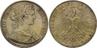 Doppeltaler 1861, Frankfurt am Main, Freie Stadt, f.st  245,00 EUR kostenloser Versand