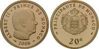 20 Euro 2008 Monaco, Albert II., PP, Etui  365,00 EUR  zzgl. 9,40 EUR Versand