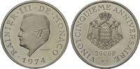 2000 Francs 1974 Monaco, Rainier III. - 25 jähriges Regierungsjubiläum,... 1095,00 EUR kostenloser Versand