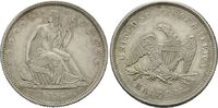 50 Cents 1839, USA, Liberty Seated Half Do...