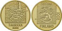Markka 2001, Finnland, Abschiedsprägung, PP, Zertifikat, Etui  385,00 EUR kostenloser Versand