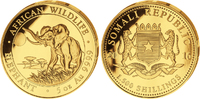 1500 Shillings 2016 Somalia, Elefant - 5oz Gold, sehr selten, PP  8900,00 EUR