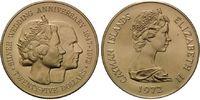 Cayman Islands, 25 Dollars Elisabeth II. - Silberne Hochzeit,