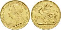 1/2 Sovereign 1901, Großbritannien, Victoria, 1837-1901, kl.Kr., st  215,00 EUR kostenloser Versand