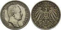 3 Mark 1909 Sachsen, Friedrich August III., 1904-1918, ss  30,00 EUR