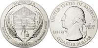 Quarter Dollar 2015 USA, Nebraska - Homestead (1/4 $), st  145,00 EUR  zzgl. 6,40 EUR Versand