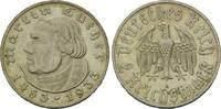 2 Mark 1933 A Drittes Reich, 1933-1945, Luther, f.Kr., st  48,00 EUR  zzgl. 6,40 EUR Versand