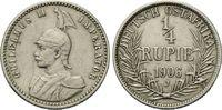 1/4 Rupie 1906 J Deutsch Ostafrika, Wilhelm II., 1888-1918, ss  85,00 EUR kostenloser Versand