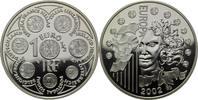 1 1/2 Euro 2002 Frankreich, 1. Geburtstag des Euro, PP, Etui, Zertifikat  35,00 EUR  zzgl. 6,40 EUR Versand