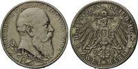 2 Mark 1902 Baden, Friedrich I. - 50jähriges Regierungsjubiläum, s-ss  20,00 EUR  zzgl. 6,40 EUR Versand
