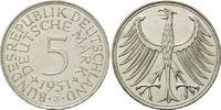 5 Mark 1951 J BRD, Silberadler - Kursmünze, bankfrisch  50,00 EUR  zzgl. 6,40 EUR Versand