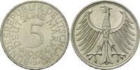 5 Mark 1956 J, BRD, Silberadler - Kursmünze, bankfrisch  185,00 EUR kostenloser Versand