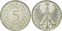5 Mark 1957 J BRD, Silberadler - Kursmünze, bankfrisch  200,00 EUR  zzgl. 6,40 EUR Versand