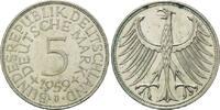 5 Mark 1959 J BRD, Silberadler - Kursmünze, vz-st  195,00 EUR  zzgl. 6,40 EUR Versand