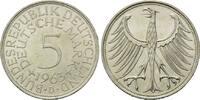 5 Mark 1963 D, BRD, Silberadler - Kursmünze, vz-st  50,00 EUR kostenloser Versand