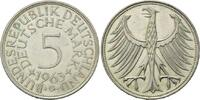 5 Mark 1963 G BRD, Silberadler - Kursmünze, vz-st  50,00 EUR  zzgl. 6,40 EUR Versand