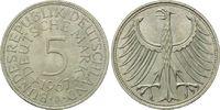 5 Mark 1967 J BRD, Silberadler - Kursmünze, bankfrisch  25,00 EUR  zzgl. 6,40 EUR Versand