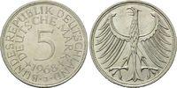 5 Mark 1968 J BRD, Silberadler - Kursmünze, bankfrisch  25,00 EUR  zzgl. 6,40 EUR Versand