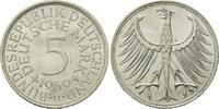 5 Mark 1969 D BRD, Silberadler - Kursmünze, bankfrisch  25,00 EUR  zzgl. 6,40 EUR Versand