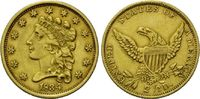 2 1/2 Dollars 1834 USA, Coronet Head, ss-vz, Rs.Graffito  750,00 EUR  zzgl. 9,40 EUR Versand