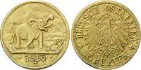 15 Rupien 1916 T Deutsch Ostafrika, Elefant, vz  4365,00 EUR  zzgl. 19,90 EUR Versand