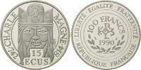 100 Francs / 15 Ecu 1990 Frankreich, Karl der Große, Etui, Zertifikat, ... 19,00 EUR  zzgl. 6,40 EUR Versand