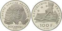 100 Francs / 15 Ecu 1991 Frankreich, Rene Descartes, Etui, Zertifikat, PP  29,00 EUR  zzgl. 6,40 EUR Versand