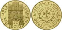 500 Francs / 70 Ecu 1990 Frankreich, Karl der Große, Etui, Zertifikat, ... 625,00 EUR  zzgl. 9,40 EUR Versand