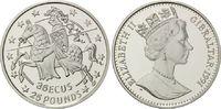 25 Pounds / 35 Ecu 1991 Gibraltar, Gibraltar in Europa, Etui, Zerti., PP  27,00 EUR  zzgl. 6,40 EUR Versand