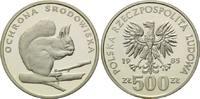 500 und 1000 Zlotych 1985 Polen, Eichhörnchen, 2 Stk., PP  175,00 EUR  zzgl. 6,40 EUR Versand