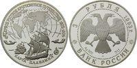 3 Rubel 1993, Russland, Russische Entdeckungen, PP  32,50 EUR  zzgl. 6,40 EUR Versand