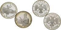3 Rubel 1993, Russland, Russische Künstler von Weltrang, 2 Stk., PP, le... 55,00 EUR  zzgl. 6,40 EUR Versand