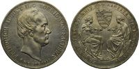 Doppeltaler 1854, Sachsen, Friedrich August II., 1836-1854, vz/st  599,00 EUR  zzgl. 9,40 EUR Versand