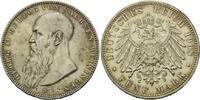 5 Mark 1908, Sachsen-Meiningen, Georg II., 1866-1914, vz/st  585,00 EUR  zzgl. 9,40 EUR Versand