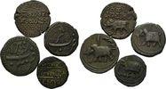 Lot Umlaufmünzen Ende 18 Jh. Indien, Tipu Sultan, 1782-1799, 4 Stk., ss  65,00 EUR  zzgl. 6,40 EUR Versand