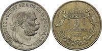 5 Korona 1907, Ungarn, Franz Joseph I., 1848-1916, ss  25,00 EUR  zzgl. 6,40 EUR Versand