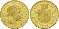 8 Forint 20 Francs 1877 KB, Ungarn, Franz Joseph I., 1848-1916, vz  290,00 EUR kostenloser Versand