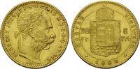 8 Forint 20 Francs 1888 KB Ungarn, Franz Joseph I., 1848-1916, vz  275,00 EUR  zzgl. 9,40 EUR Versand