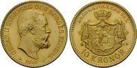 10 Kronen 1901 Schweden, Oskar II., 1872-1907, vz+  198,00 EUR  zzgl. 6,40 EUR Versand