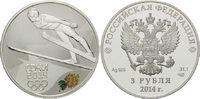 3 Rubel 2014, Russland, Olympiade Sotchi 2014 - Skispringen, PP  54,00 EUR  zzgl. 6,40 EUR Versand
