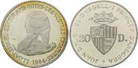 20 Diners 1984, Andorra,  ber. PP, Kratzer, Patina  15,00 EUR  zzgl. 6,40 EUR Versand