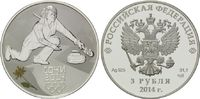 3 Rubel 2014, Russland, Olympiade Sotchi 2014 - Curling, PP  54,00 EUR  zzgl. 6,40 EUR Versand