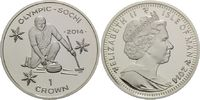 1 Crown 2014, Isle of Man, Olympische Spiele in Sotchi 2014 - Curling, PP  19,95 EUR  zzgl. 6,40 EUR Versand