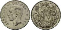 50 Cents 1951, Kanada, Georg VI., 1936-1952, ss  5,00 EUR  zzgl. 6,40 EUR Versand