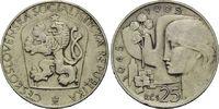 25 Kronen 1965, Tschechoslowakei, Volksrepublik, 1948-1993, 20.Jahresta... 8,00 EUR  zzgl. 6,40 EUR Versand