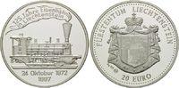 20 Euro 1997, Liechtenstein, 125 Jahre Eisenbahn in Liechtenstein, PP  27,00 EUR  zzgl. 6,40 EUR Versand