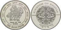 300 Ngultrums 1996, Bhutan, Jahr des Pferdes, PP  55,00 EUR  zzgl. 6,40 EUR Versand