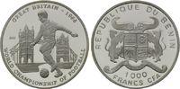 1000 Francs 2001, Benin, Fußball-WM 1966 in Großbritannien, PP  25,00 EUR kostenloser Versand