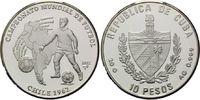 10 Pesos 2002, Kuba, Fußball-WM 1962 in Chile, PP  28,00 EUR kostenloser Versand