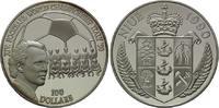 100 Dollars 1990, Niue, Fußball-WM 1990 in Italien, PP  175,00 EUR kostenloser Versand